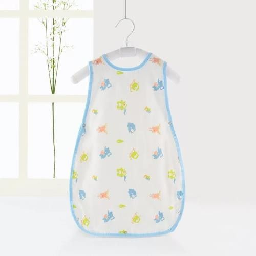 Natural Soft Cotton Muslin Sleeping Bag For Toddlers Size 75*64*32cm